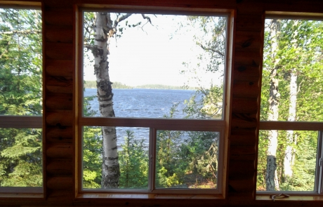 Birch Lake Lodge - Cabin #1 View from Living Room